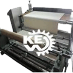 Liner fabric rewinding machine